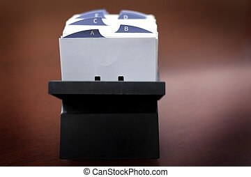 Index Cards for Oganizing Contacts or Information Business