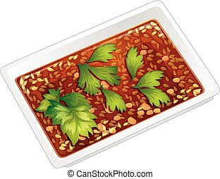 Food in square box illustration