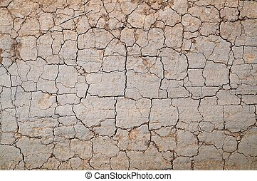 Cracked dirt road - Texture of the old dirt road with cracks
