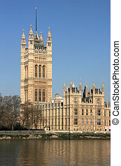 London - Victoria Tower - part of the Houses of Parliament...