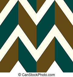 Pattern with white, brown and green lines. Vector...