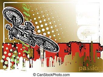 BMX biker poster background