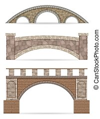 stone bridge stock vector illustration