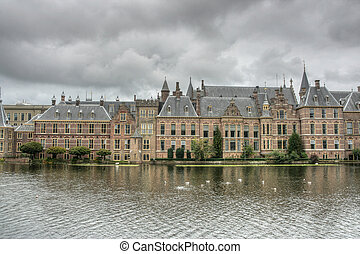 Den Haag - HDR photo of Royal Palace in Hague, Netherlands....