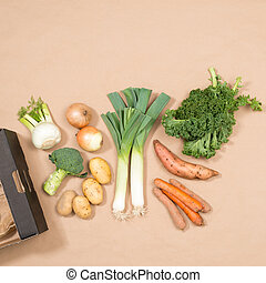 Square Image of Small Assortment of Fresh Vegetables -...