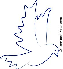 Vector dove icon. Flying dove