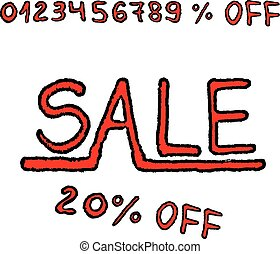 Hand-drawn Sale with any percent of discount