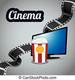 cinema tv lcd strip film with bucket pop corn