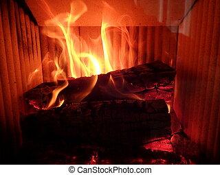 fogo, chama, fundo, fogo, chamas
