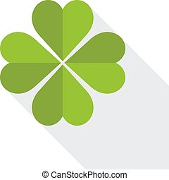 Saint Patricks day clover symbol - Green clover symbol with...