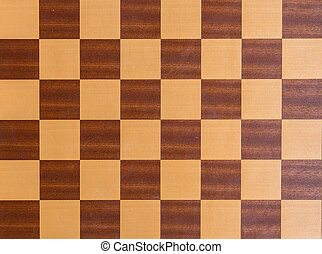 Squares of a wooden chessboard background