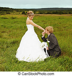 Groom to genuflect near bride - Groom to genuflect near the...