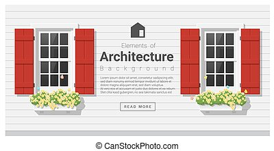Elements of architecture , window background , vector...