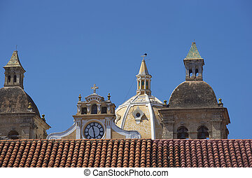 Rooftops of Cartagena in Colombia