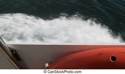 Motor boating in Fundy Bay New Brunswick Canada