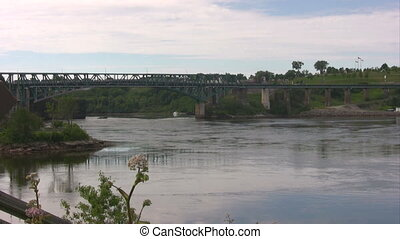 Reversing Falls Bridge and area Saint John River NB - Area...