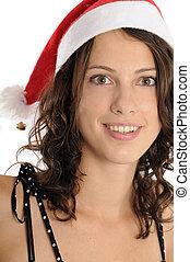 niña, navidad, bastante