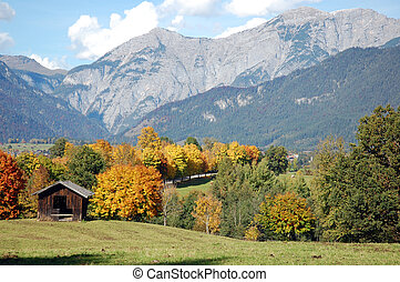 Fall in austrian alps - Colorful mountain landscape of...