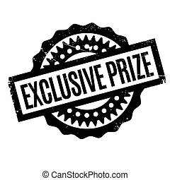 Exclusive Prize rubber stamp. Grunge design with dust...