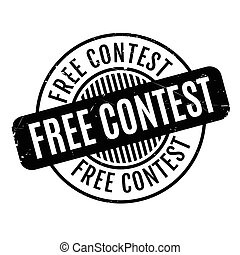Free Contest rubber stamp. Grunge design with dust...