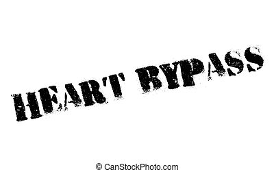 Heart Bypass rubber stamp. Grunge design with dust...