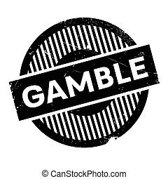 Gamble rubber stamp. Grunge design with dust scratches....