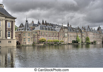 Binnenhof The Hague - Dutch Parliament buildings Binnenhof...