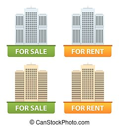 Buttons sale and rent of city apartments