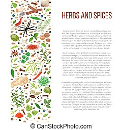 different herbs and spices with description text - Popular...