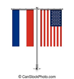 Netherlands and USA flags hanging together. - Netherlands...