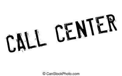 Call Center rubber stamp. Grunge design with dust scratches....