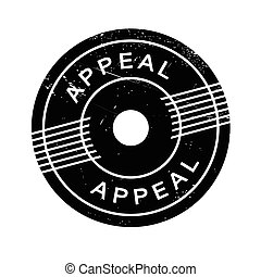Appeal rubber stamp. Grunge design with dust scratches....
