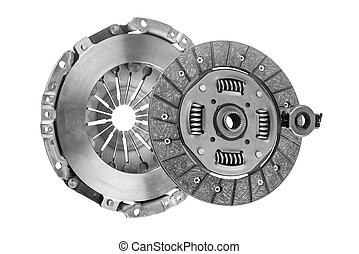 Clutch Kit with a bearing on a white background - clutch kit...