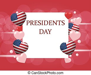 President s Day. An inscription on a gradient background....