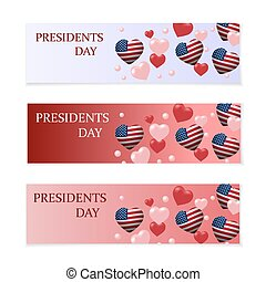Presidents Day. Flyer, leaflet or business card gradient...