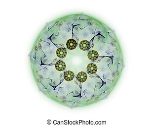 Stock Illustration - fractal radial pattern on the subject...