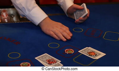 player folds when playing blackjack