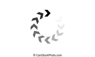 animation - loading circle arrow icon on white background...