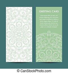 vector mock up of vintage greting card illustration. EPS