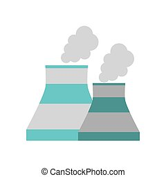 nuclear power plant enrgy icon vector illustration eps 10