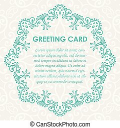 vector mock up of vintage greting card illustration. EPS