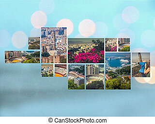 Collage of Malaga, Spain