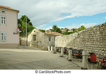 Krk, Croatia: a town in the south of the island of Krk. It...