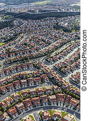 Aerial Los Angeles Porter Ranch Homes