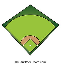 Isolated baseball field
