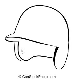Isolated baseball helm on a white background, Vector...