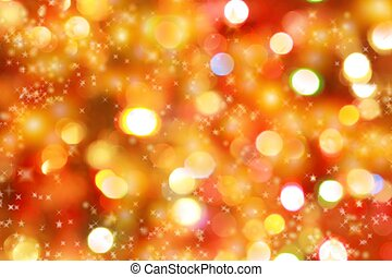 Christmas lights background - Abstract background of...