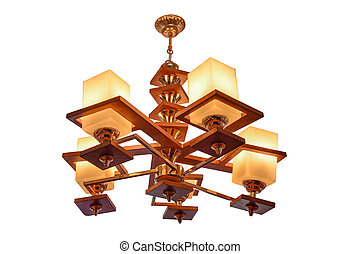Chandelier isolated. - Chandelier isolated on white...