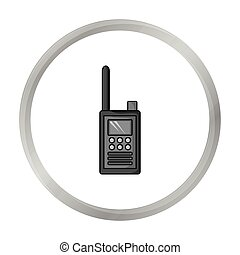Handheld transceiver icon in monochrome style isolated on...