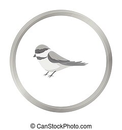 Parus icon in monochrome style isolated on white background....